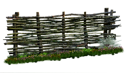 Weaved Wooden Fence PNG.. by AledJonesDigitalArt