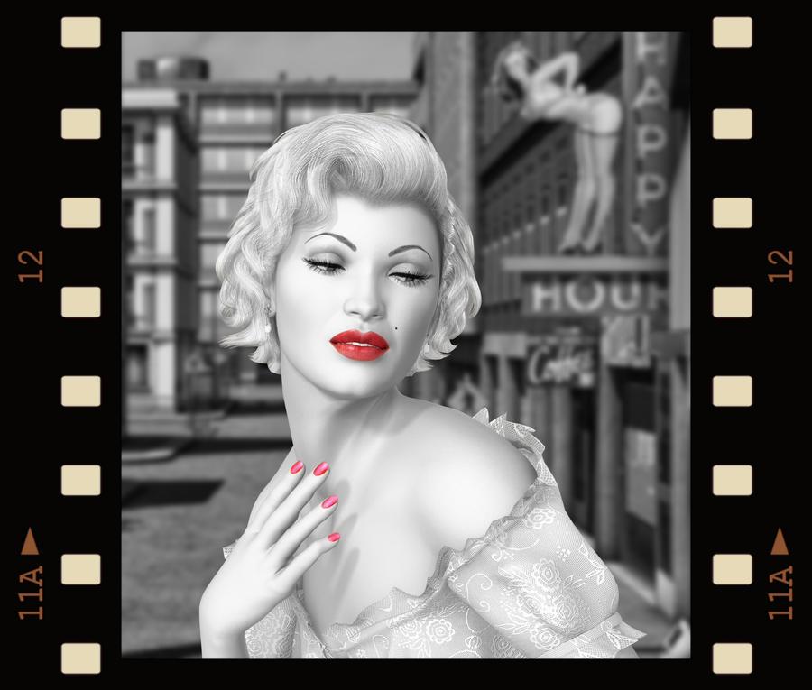 Marilyn.. by WelshDragonStockNArt