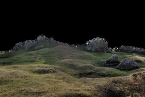 Rocky Landscape PNG. by AledJonesDigitalArt