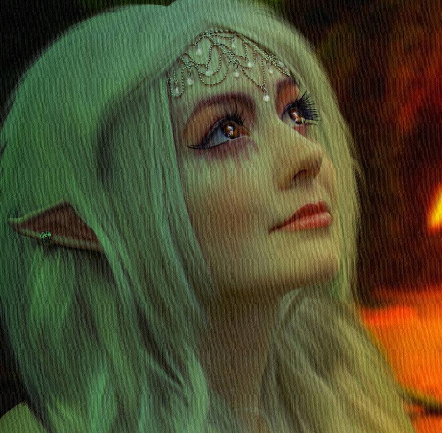 Forest Elf.. by AledJonesDigitalArt