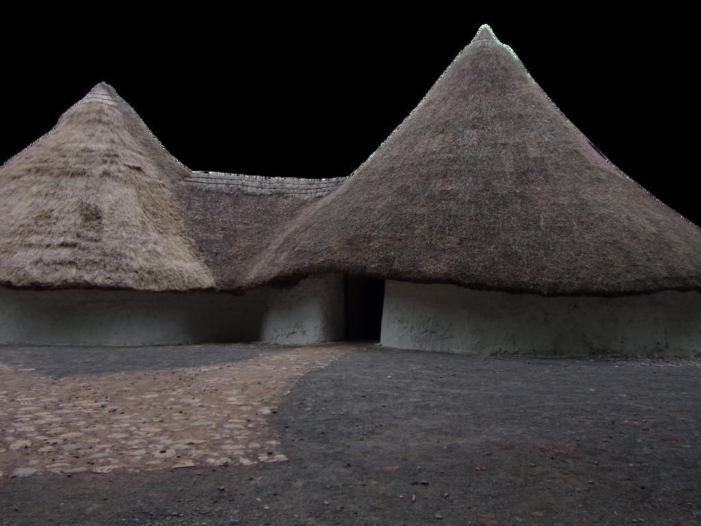 Iron Age House.. by WelshDragonStockNArt