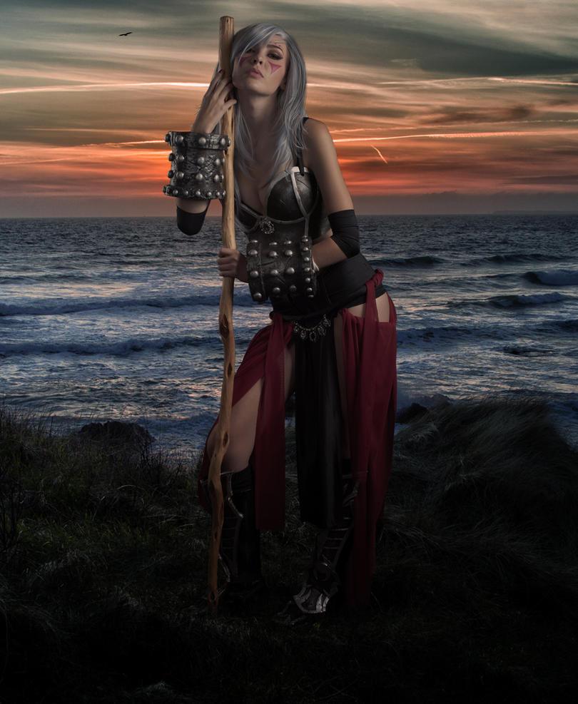 Sundown Warrior.. by AledJonesDigitalArt