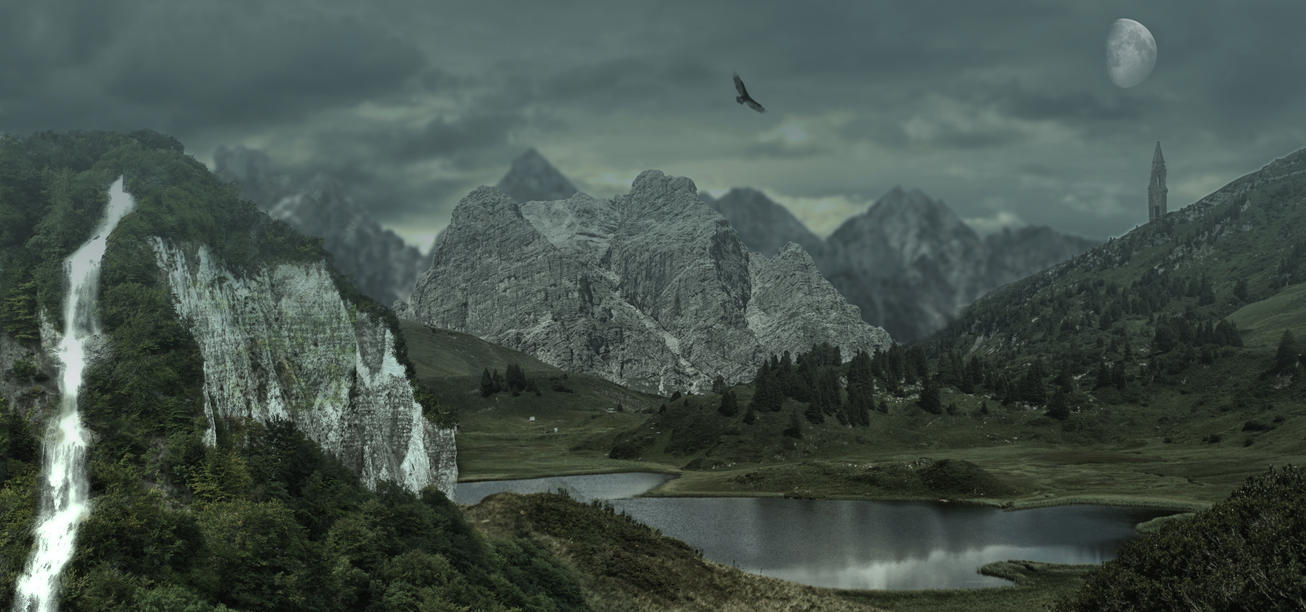 Fantasy Landscape 01.. by AledJonesStockNArt