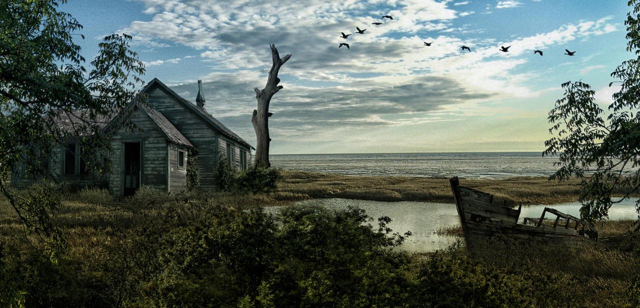 The Old Cabin.. by AledJonesDigitalArt