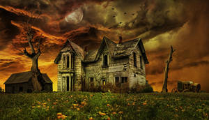Old Haunted Farmhouse..