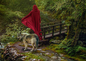 Red Riding Hood.. by AledJonesDigitalArt