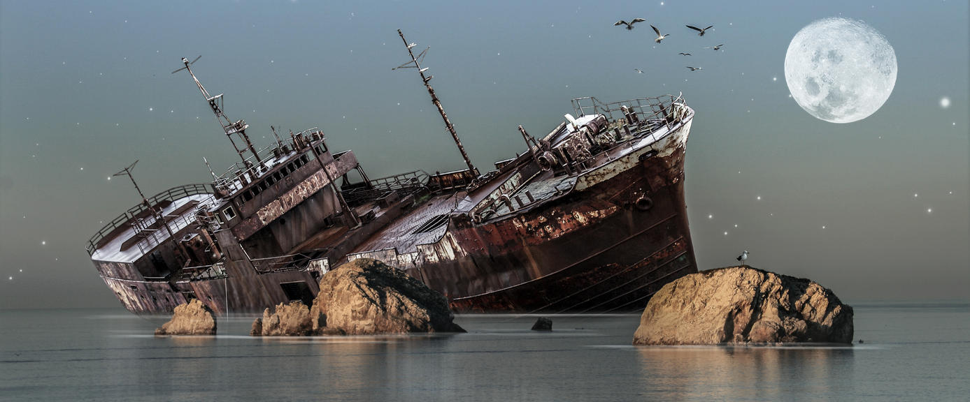 Shipwreck.. by AledJonesStockNArt