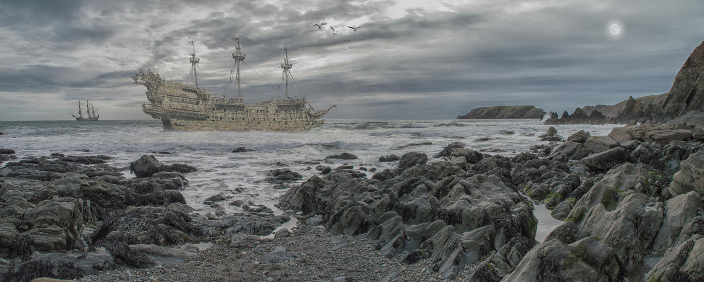 Ghost Ship.. by AledJonesStockNArt