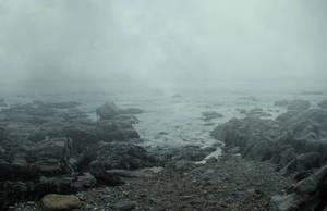 Misty Seascape Premade 01 March 2017.. by AledJonesDigitalArt