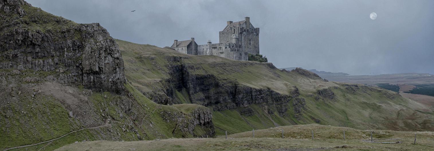Scottish Highlands Matte painting.. by AledJonesStockNArt