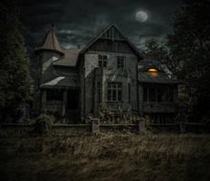 The Haunted House.. by AledJonesDigitalArt