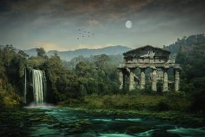 Old Temple.. by AledJonesDigitalArt