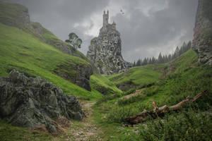 Screaming Rock Tower. by AledJonesDigitalArt