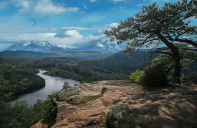 Landscape View.. by AledJonesDigitalArt