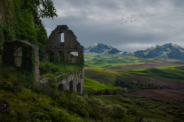 Old Ruin.. by AledJonesDigitalArt