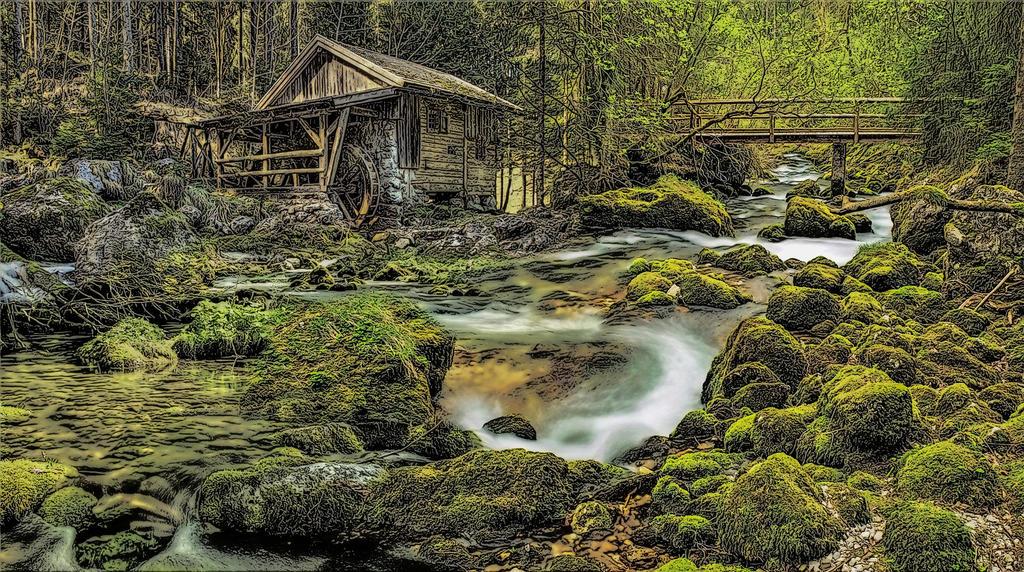 The Mill.. by AledJonesDigitalArt