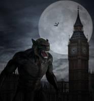 An American Werewolf In London.. by AledJonesDigitalArt