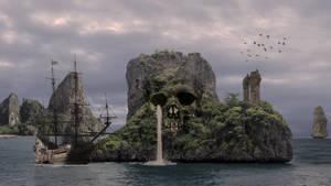 Skull Island by AledJonesDigitalArt