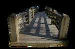 Wooden Bridge PNG stock..