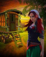 Gypsy girl.. by AledJonesDigitalArt