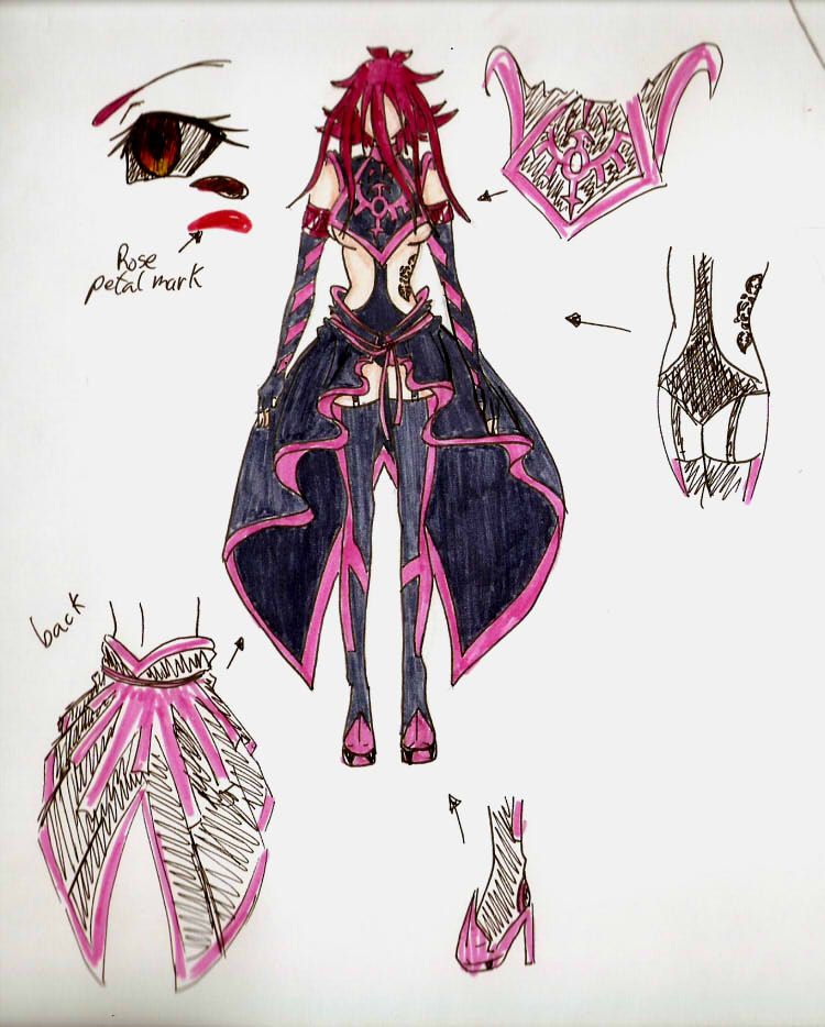 D signer aki dress design by xxsaorixx on deviantart Oh design