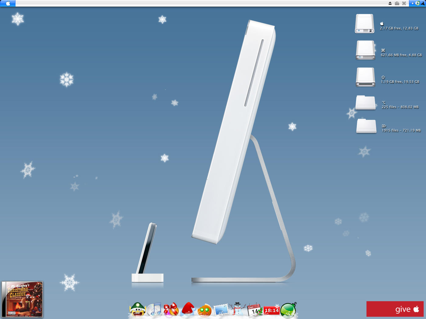iMac Xmas Wish Desktop by Atreide