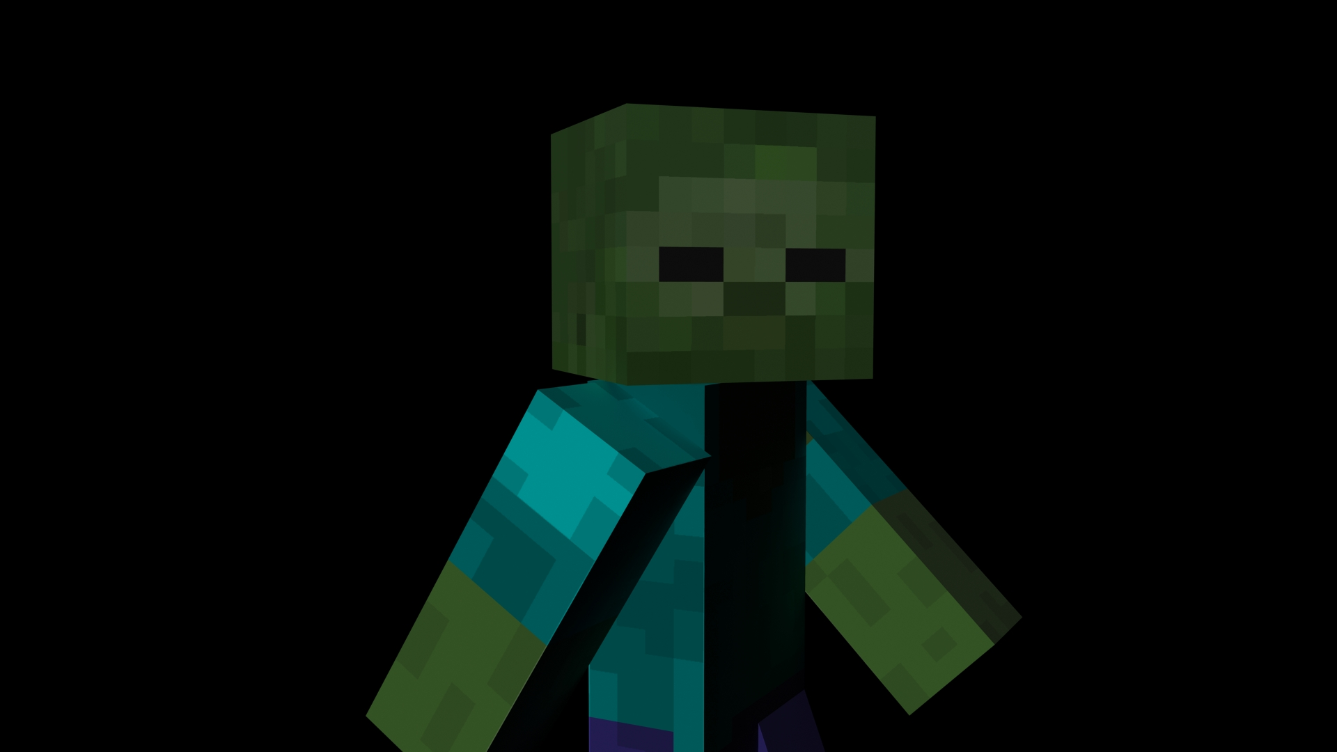 Minecraft Zombie by the-undrawableMinecraft Pictures Of Zombies Face