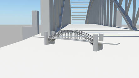 Sydney Harbour bridge - unfinished by the-undrawable