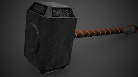 Thor's Hammer by the-undrawable