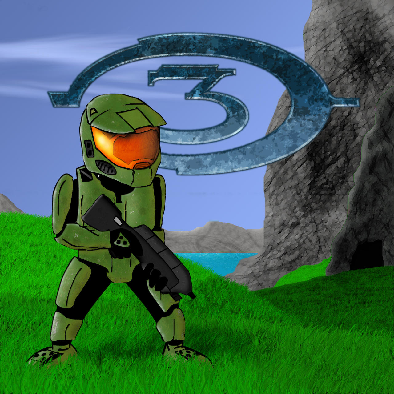Master Chief:  2nd Dimension by Raulboy
