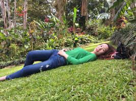 Minji in Repose at the Lyon Arboretum