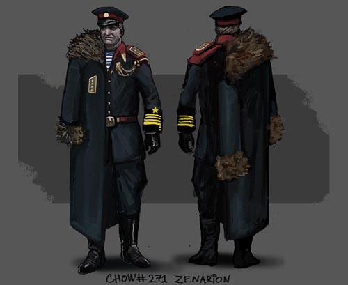 Red Commander Charactersheet by zenarion