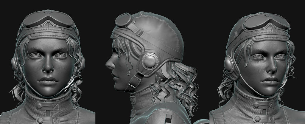 Alizee Zbrush Face by 89flo