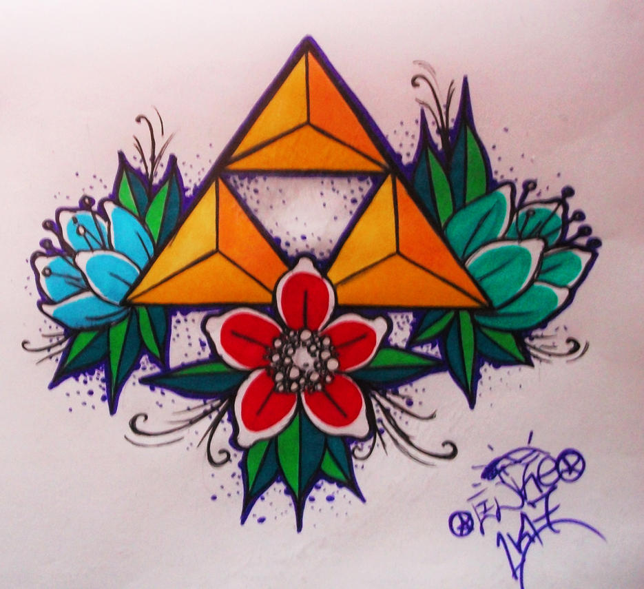 Triforce tattoo designs by dimebagdazz on deviantart - Triforce Tattoo Design Triforce Tattoo Design By Herja89