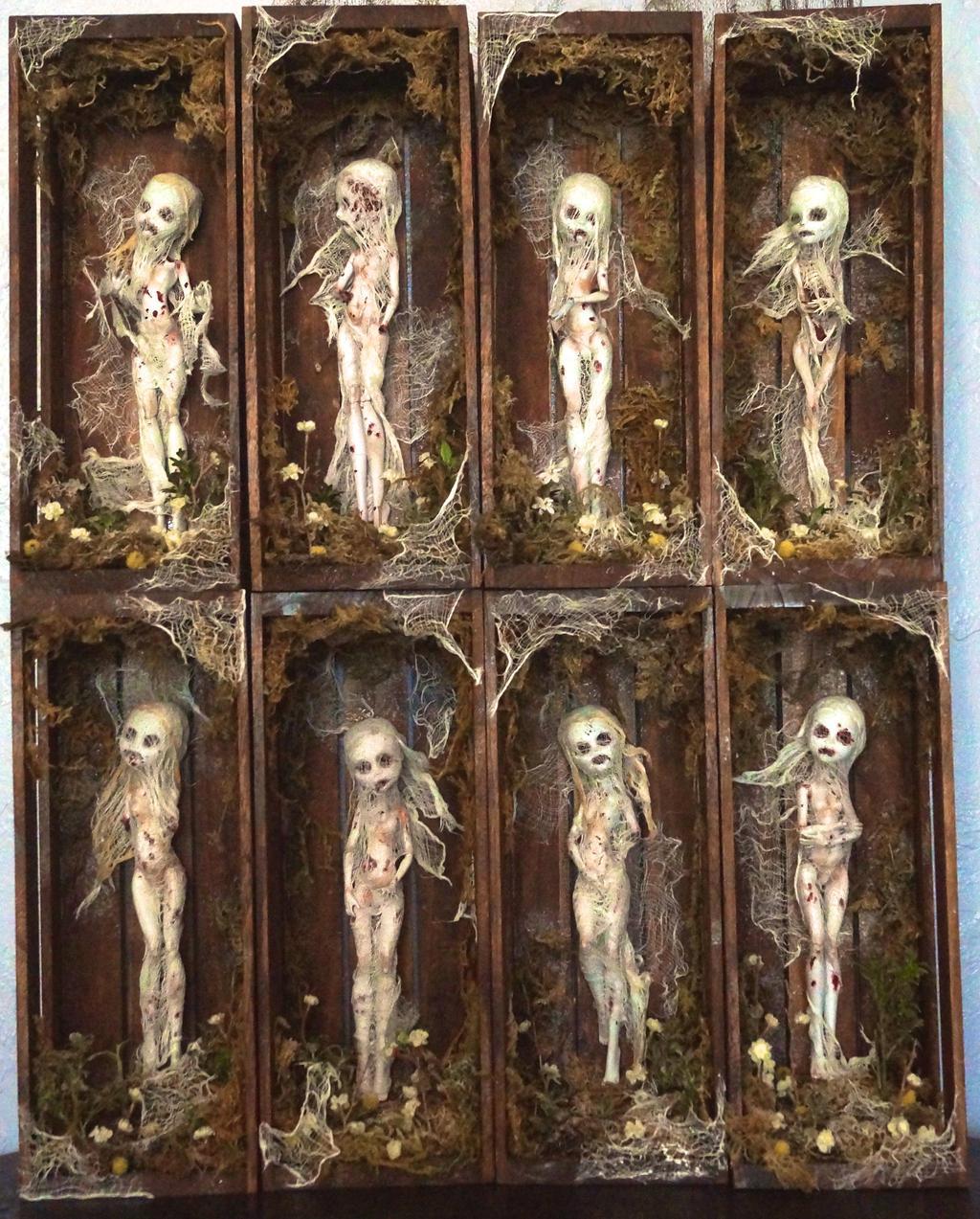 Monster High Modded Dolls (Zombie girls) by sankyaku