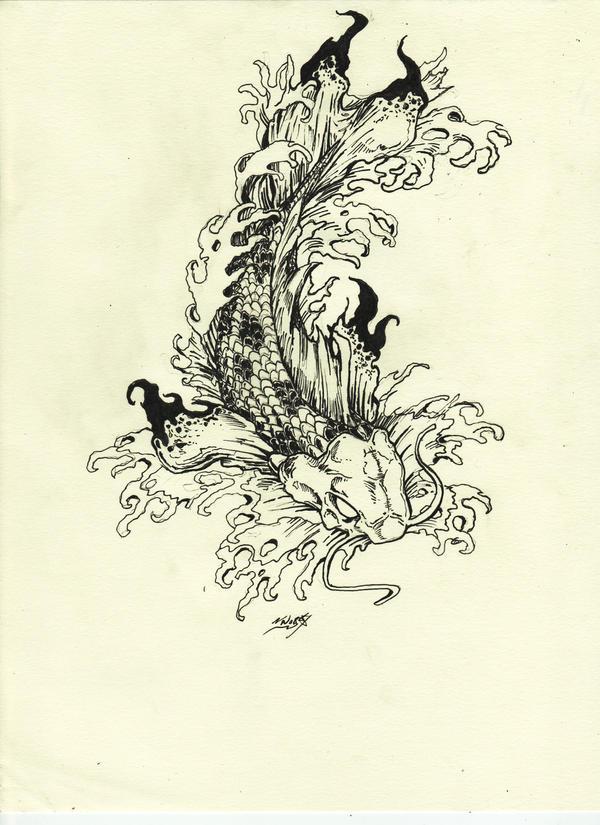 koi tattoo design by ~samurai30 on deviantART