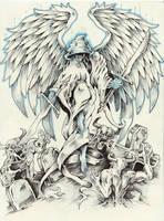 Angel tattoo comission by samurai30