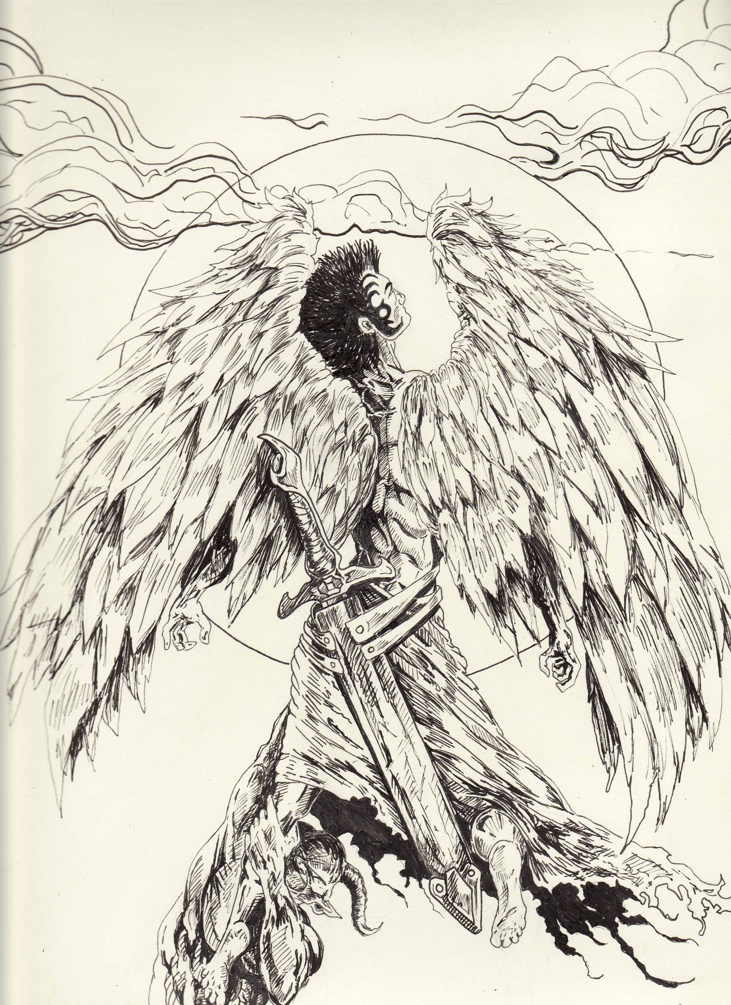 angel and demons drawings - photo #17