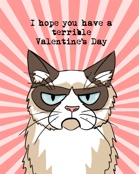 Grumpy Cat Valentine by Elymnesis