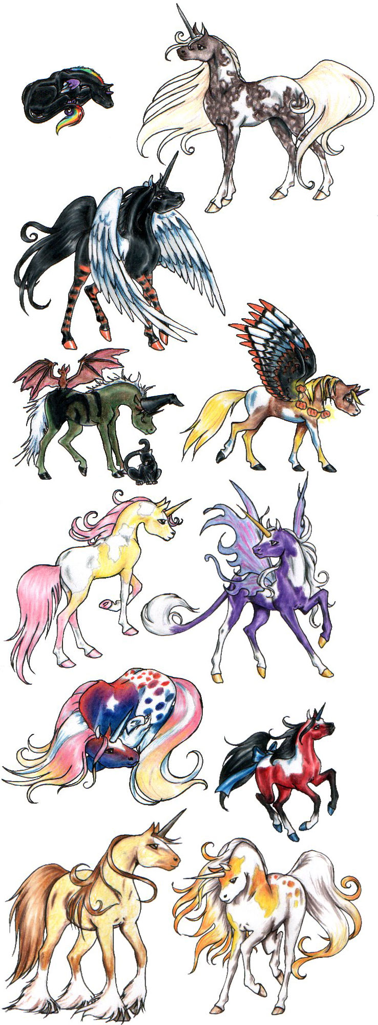 Painted Unicorn Collage 2 by SilvanonOfTheOrchard