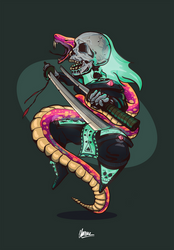 Samorai bone and snake