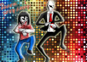 Jeff and Slendy GanGnam Style! by simotaku
