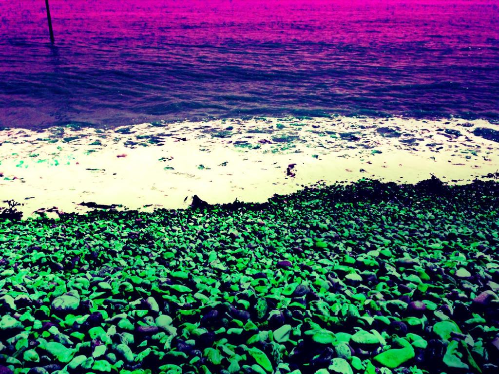 Digital Pebble Beach by MarmaladeSunshine