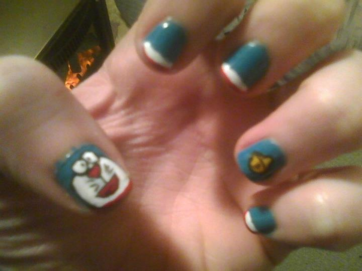 Nail Art Doraemon By Challengesakana On Deviantart