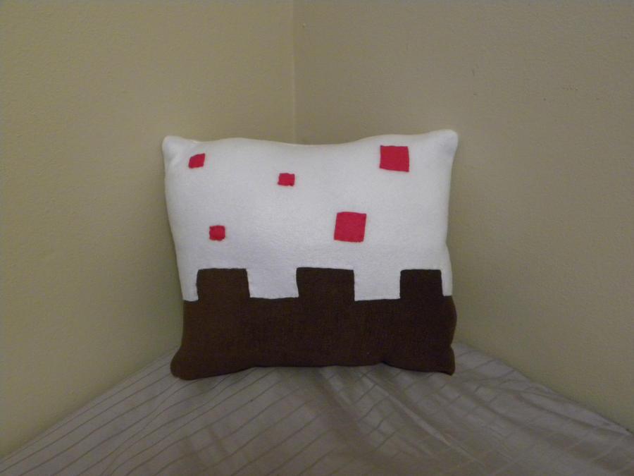 minecraft pillows minecraft cake pillow by challengesakana on