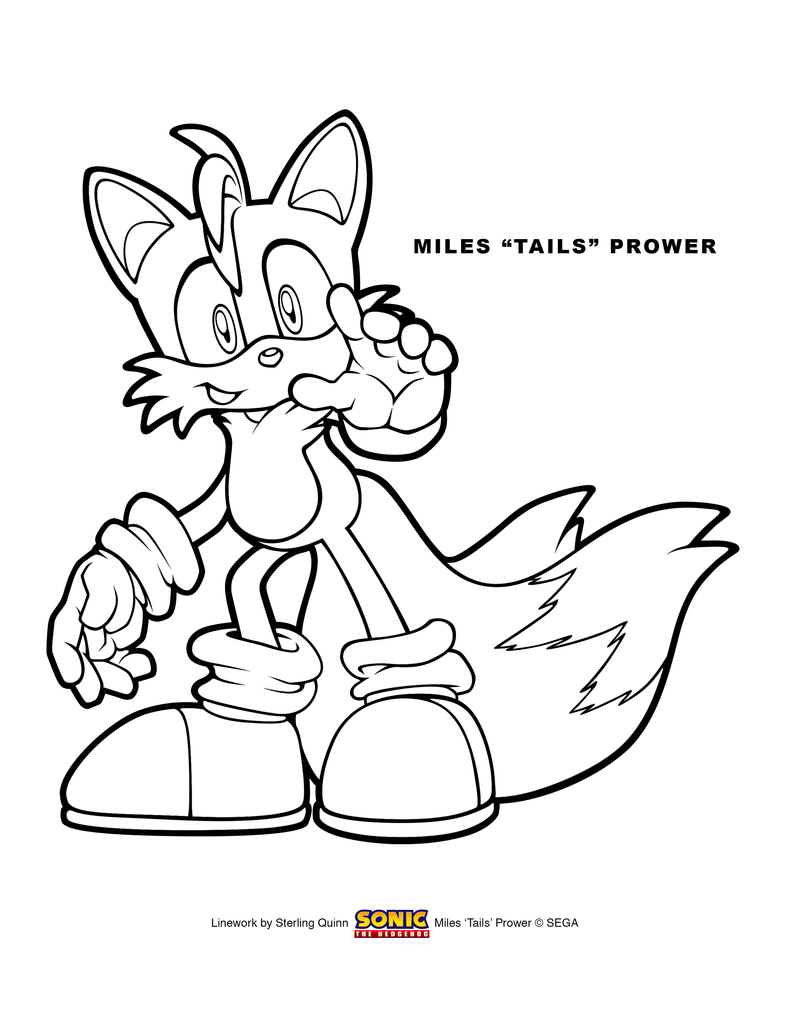Miles \'Tails\' Prower Coloring Page 8.5x11 by SterlingQuinn on DeviantArt