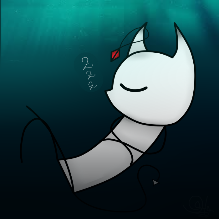 Demon | Sleeping on the ocean floor by DinoDinoRex12