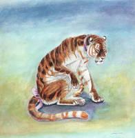 Sulking Tigress by ebonytigress