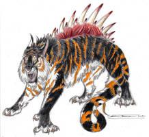 Ebony Menstrual Beast by ebonytigress