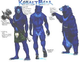 KobaltBear Ref by ebonytigress
